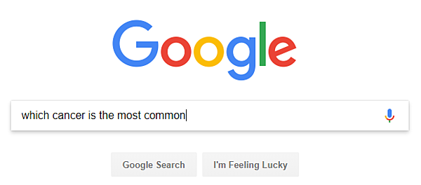 Google - which cancer is most common
