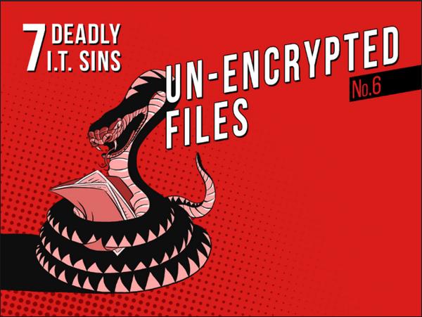 SOPHOS Deadly IT Sin - Un-Encrypted Files